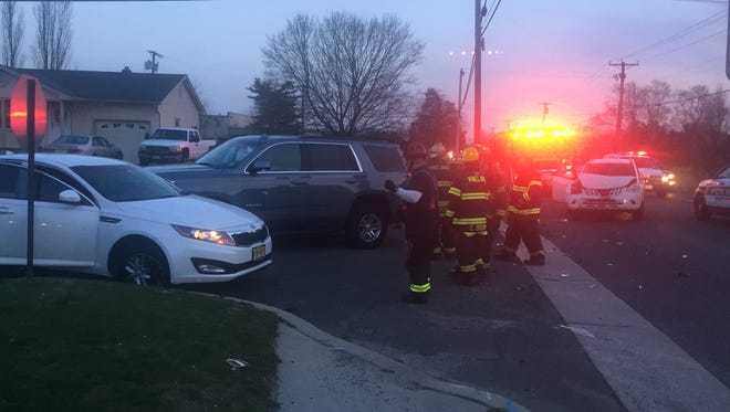 Traffic was detoured while Vineland Police investigated a crash along North Main Road, near Phillips Street.