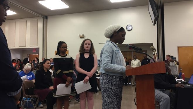 Shelby County Schools students spoke at a board meeting Tuesday outlining their ideas for making schools safer.