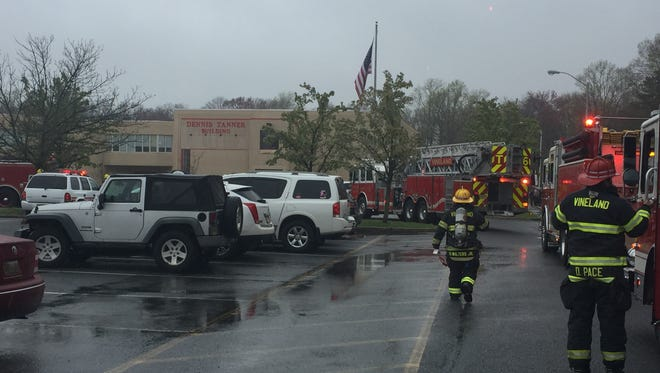 Vineland firefighters responded to Vineland High School North, 3010 E. Chestnut Ave., on April 25.