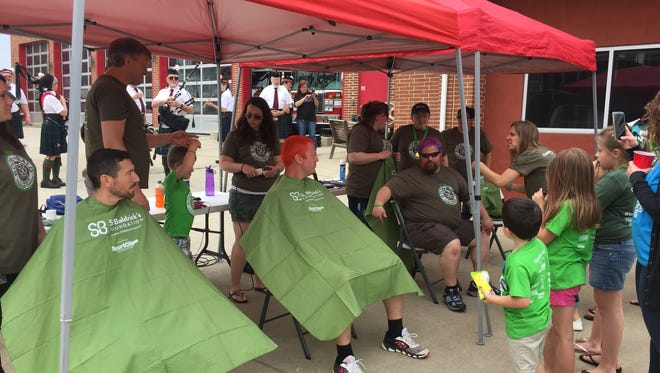 The annual St. Baldrick's head shaving event was held Saturday, May 5 at Red Lion Fire Company Station 34. Over 50 local volunteers signed up to go bald with the goal of raising $25,000 for childhood cancer research.