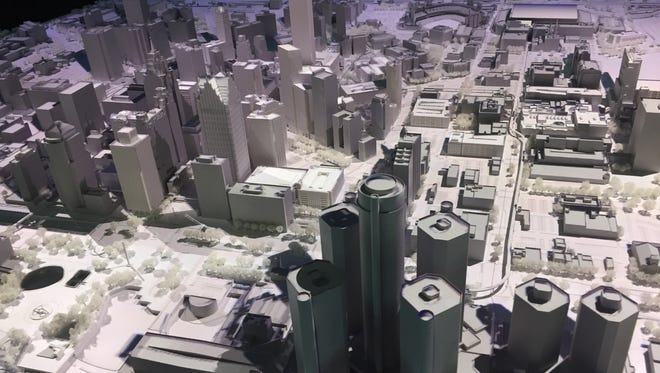 Bedrock has unveiled this 3D-printed table-top model of downtown Detroit to serve as a market tool to tell Detroit's comeback story.
