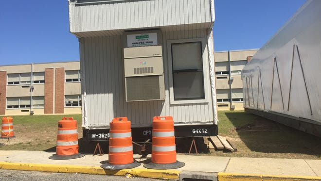 This trailer will help constitute a temporary cafeteria outside Millville Senior High School  during a major renovation and expansion project.