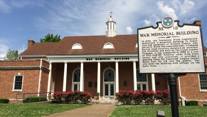 The War Memorial Building in Downtown Dickson may be the future home of the Dickson County Chamber of Commerce.