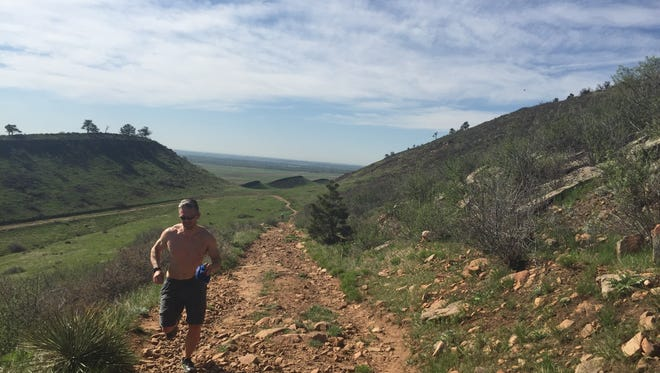 Trail running at Coyote Ridge Natural Area is invigorating.