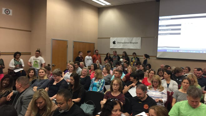 Residents packed a Central York School Board meeting Monday night to show support for two diversity specialists. One board member had suggested eliminating the positions for budgetary reasons.