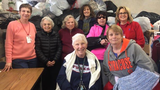 From left: Marianne Mailen, Joyce Bensley, Jackie D., Mary Gell, Dawn Pitcher, Martha Lee Holcomb, Terri Petryszyn, Sue Brown