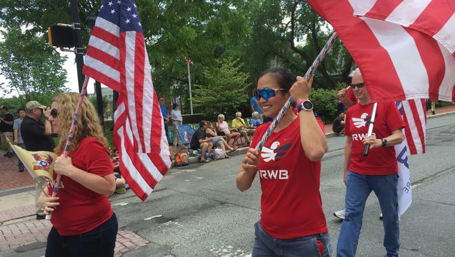 At Newark's annual Memorial Day parade, hundreds from around the area gathered to watch a procession of soldiers, scouts and veterans march through town to honor those who died while serving in the U.S. military.