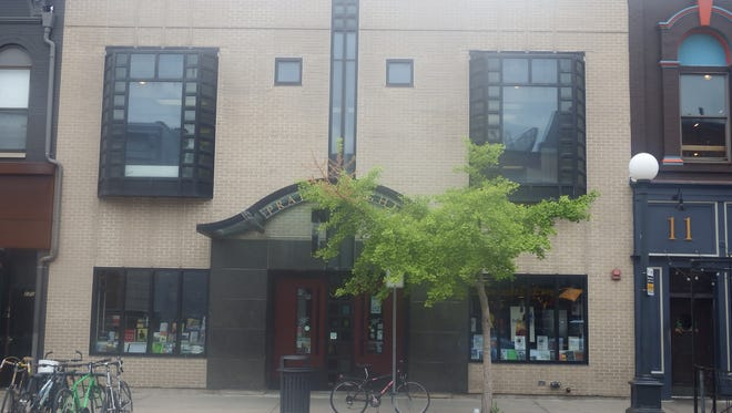 Prairie Lights bookstore is shown in Iowa City on May 25, 2018.
