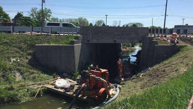 Work continues on the 24th Avenue bridge over the Howe Drain in Fort Gratiot, but motorists don't have to suffer any more detours.