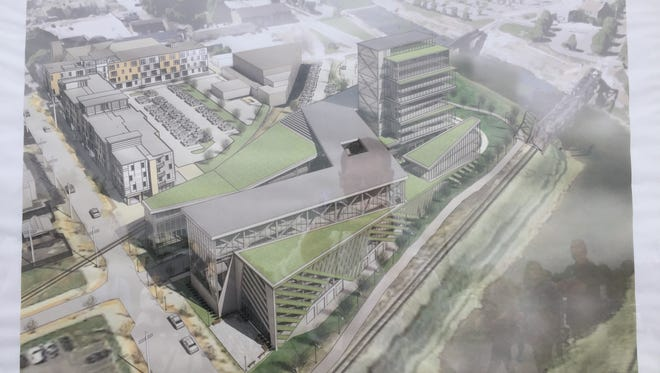 A rendering of what the completed project at the Northwest Triangle will look like.