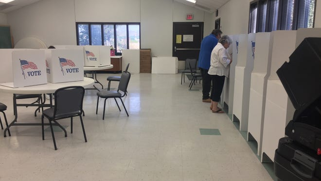 Carlsbad residents voted Tuesday morning for the 2018 primary election, June 5, 2018. The St. Peter Evangelical Lutheran Church was one of the poll locations for the election.