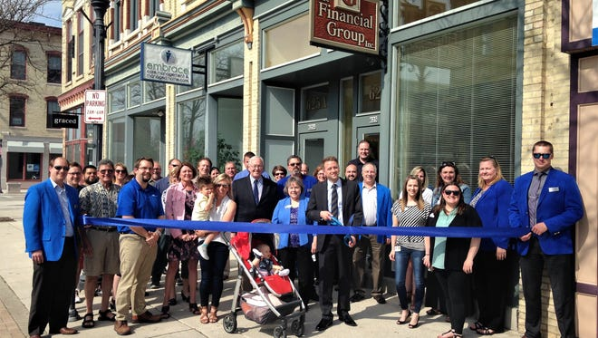 Sheboygan County Chamber ribbon cutting for The Financial Group's new owner
