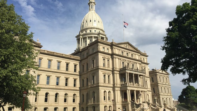 The Capitol building in downtown Lansing