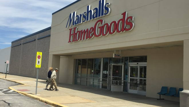 HomeGoods has already been added to the sign for the existing Marshalls in Burlington Township. A grand opening of the combination store with 15 new employees will be June 28 though Marshalls has continued to operate during the remodeling.