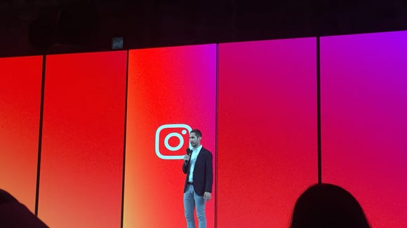 Instagram CEO Kevin Systrom at a San Francisco press