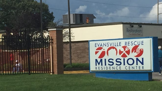 The Evansville Rescue Mission on Walnut Street is one of the local agencies that assists local people experiencing homelessness.