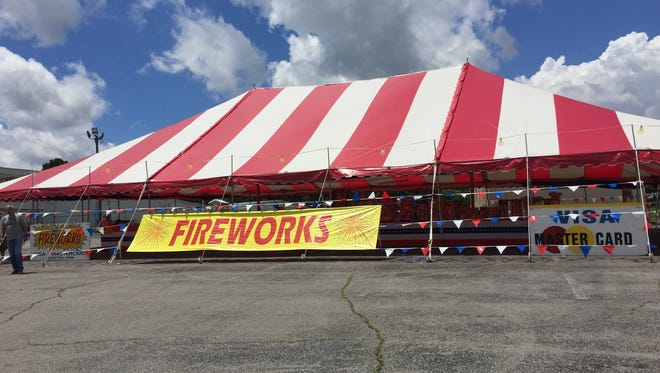Fireworks tents, like Cassity's Fireworks, are popping up all over the city.
