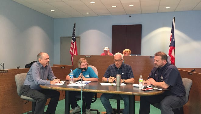 During a Buckeye Lake Village Council Public Safety Committee about the police department Monday night, former police chief James Hanzey   was escorted out following a profanity laced tirade against council members.