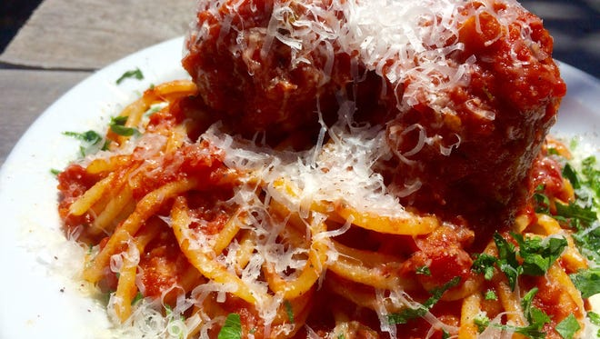 Spaghetti and meatballs at Maui Pasta in Scottsdale.