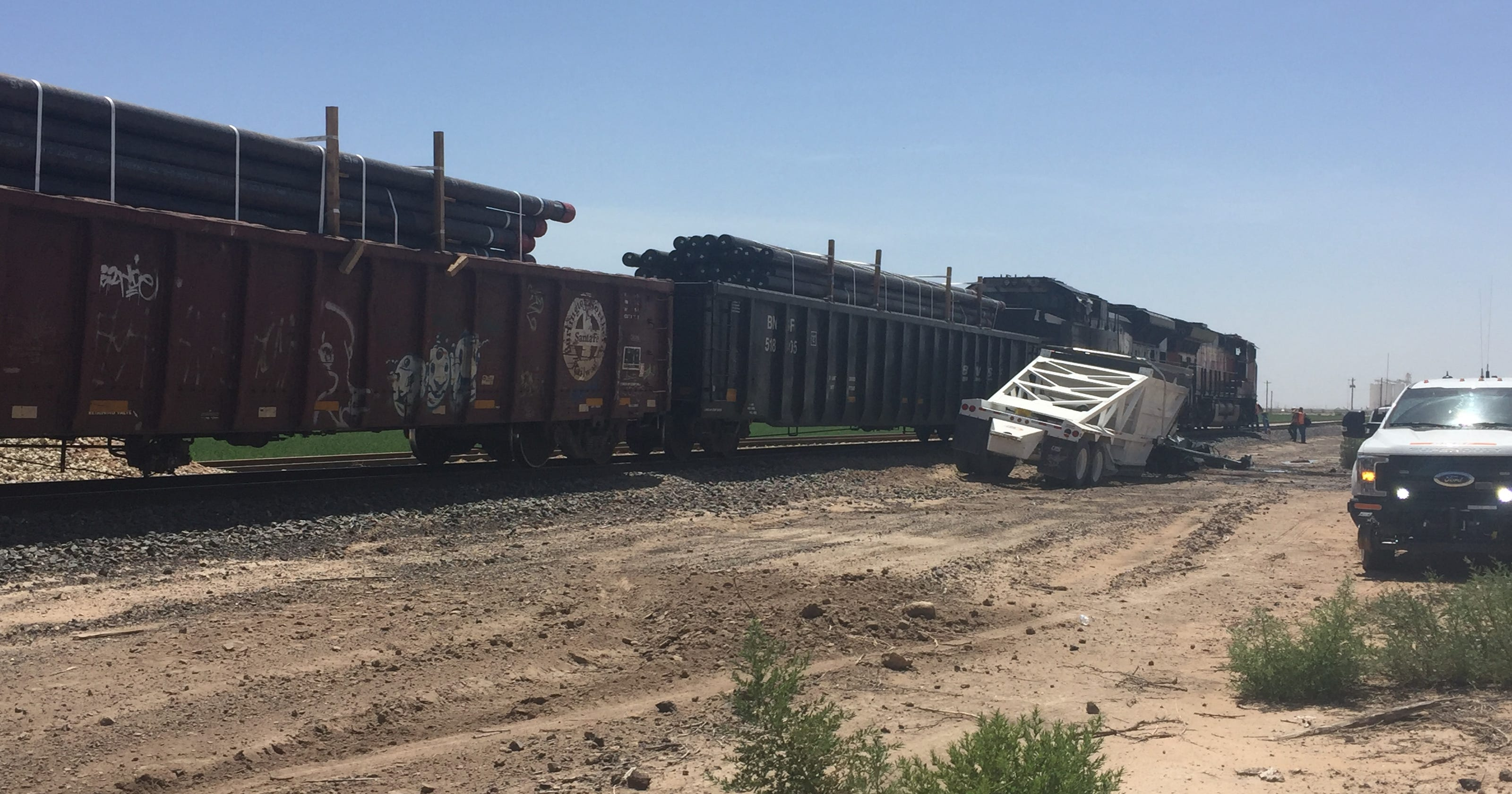 Train hits semi south of Carlsbad near Brantley Road
