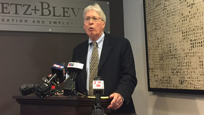 Jim Bopp, a high-powered Republican attorney, announces the creation of a legal defense fund for Attorney General Curtis Hill on July 23, 2018.