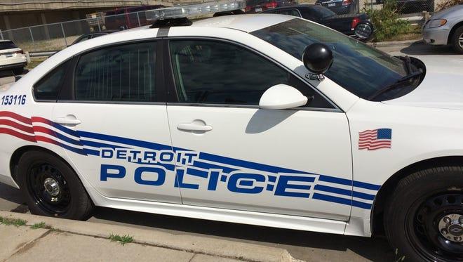 A Detroit Police Department scout car.