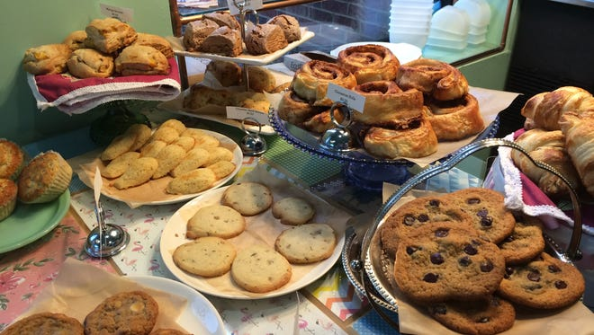 An array of tempting cookies await at Southern Velvet Cafe.