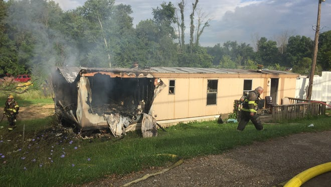 Several fire departments were dispatched to a mobile home fire on Flint Ridge Road.