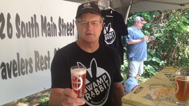 Ben Pierson of Swamp Rabbit Brewery in Travelers Rest S.C. has just added a new k IPA called Men in Black.