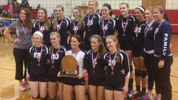 Asheville Christian Academy won the NCISAA 2-A volleyball championship on Saturday in High Point.