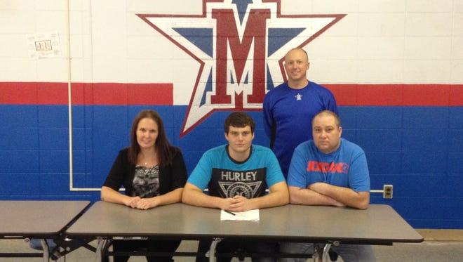 McDowell senior Daniel Blake has signed to play college baseball for King (Tenn.).