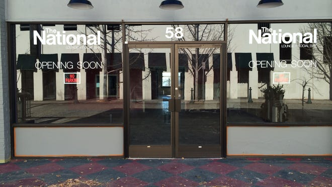 The National will open in this 58 Wall St. building, which has housed a coffee house and, most recently, a smoothie shop.