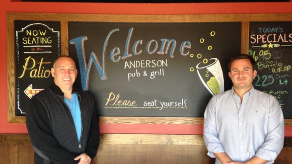 Owners Jon Bernier (left) and Joe Dold are pictured at the new Anderson Pub & Grill.