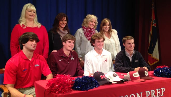 Jackson Prep had four baseball players from the class of 2015 sign with SEC programs