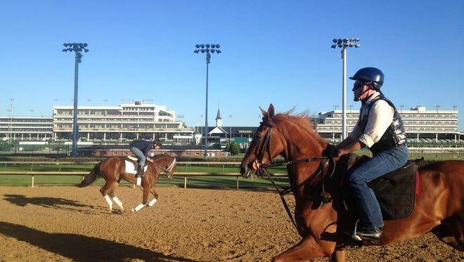 Horses train at Churchill Downs