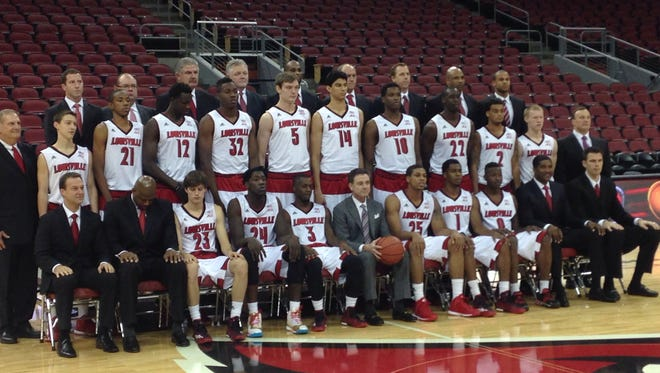 Louisville's team photo before the first scrimmage of the 2014-15 season.