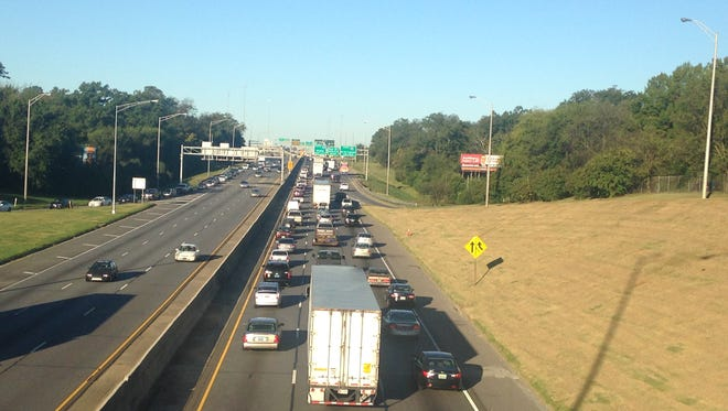 Traffic is delayed near the I-85/I-65 interchange due to a Thursday morning wreck.
