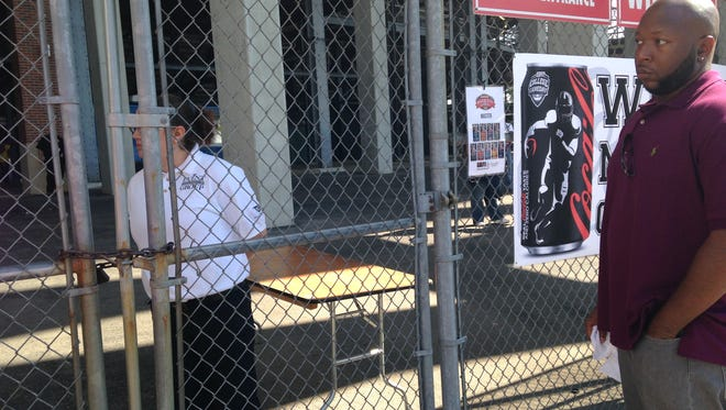 The media gate for the Magic City Classic was padlocked two hours before kickoff