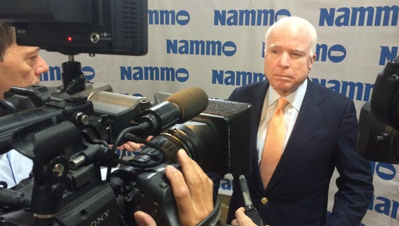 Sen. John McCain on Wednesday expressed concern about
