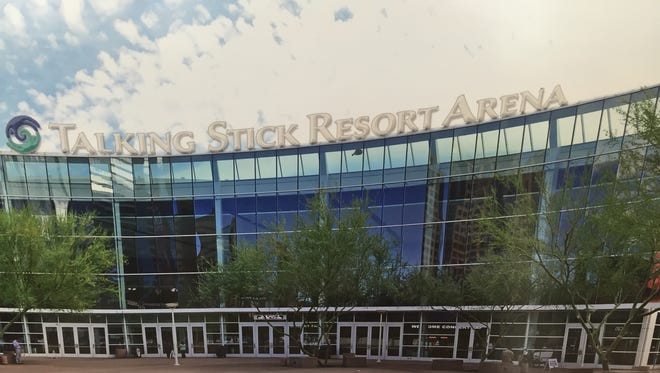 The arena where the Phoenix Suns and Phoenix Mercury play has a new name: Talking Stick Resort Arena.