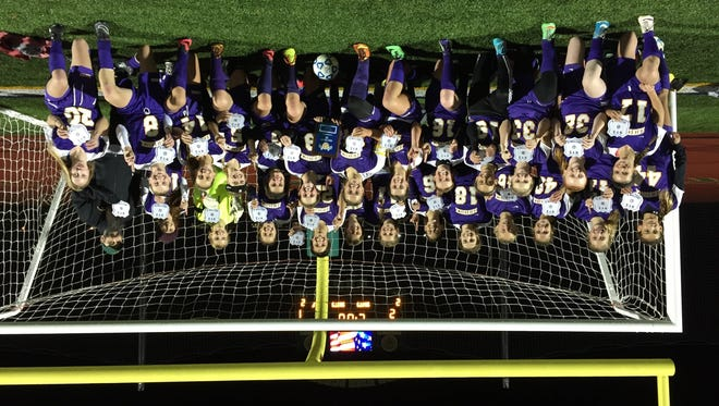 The Rhinebeck girls soccer team, Section 9 Class C champion