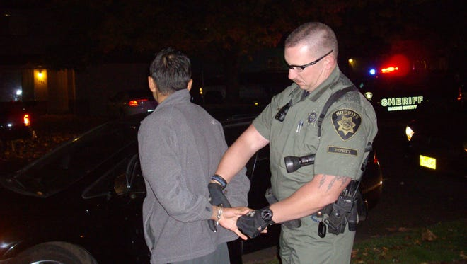 The sheriff's office making a DUI arrest