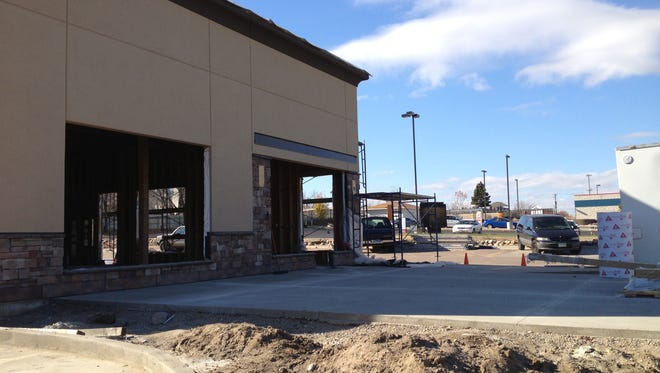 This combination Bruegger's Bagels and Caribou Coffee location will open early next year.