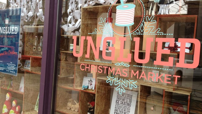 Unglued will be open from Nov. 20 until Dec. 24 in the Carpenter building.
