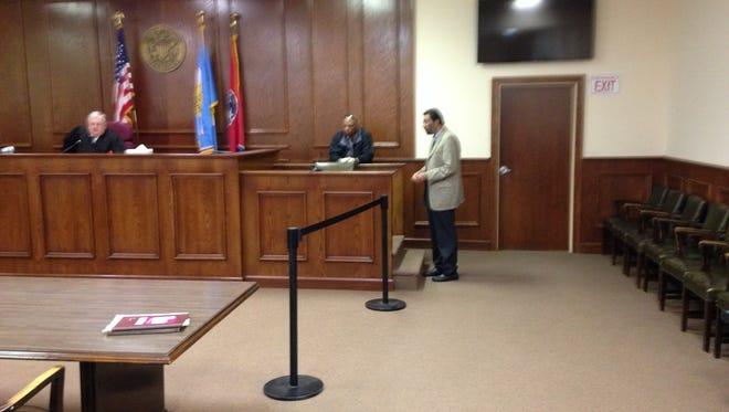 Dr. Omar Ahmad is arraigned in Jackson City Court Monday.