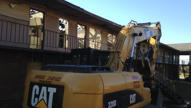 Ten apartments are being razed at Guardian Courts at 1170 Hollywood Drive.