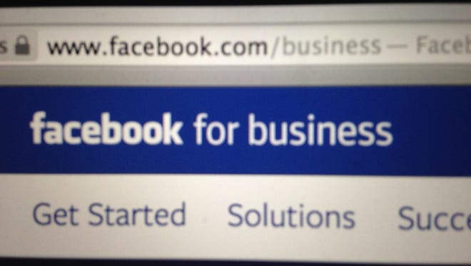 """The intro page for Facebook's existing """"Facebook for business"""" offering. Facebook is also testing a separate website focused on the corporate customer, the """"Financial Times"""" reported."""