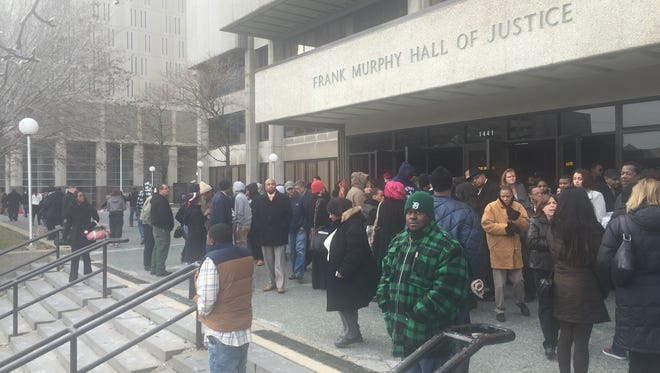 The Frank Murphy Hall of Justice is among several public buildings across Detroit that reported power outages Dec. 2, 2014.