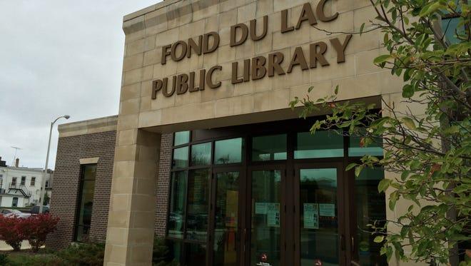 Fond du Lac Public Library entrance.