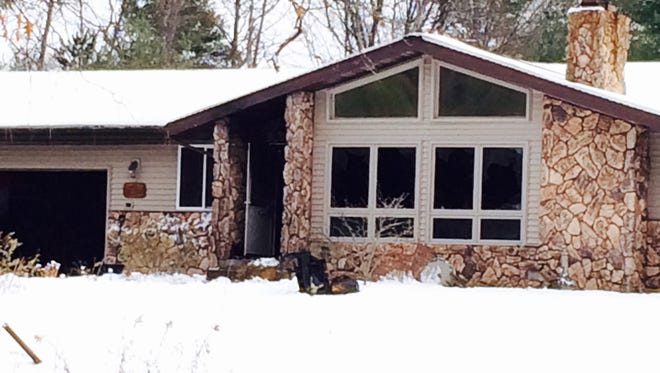A home on Circle Drive in Kronenwetter was gutted by an overnight fire.